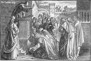 """Ezra Reads the Torah - from """"The Book of Books in Pictures"""", Julius Schnorr von Carolsfeld, Verlag von Georg Wigand, Liepzig: 1908"""
