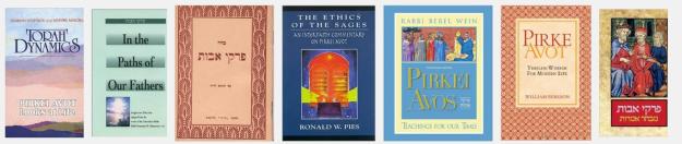Pirkei Avot bottom row books