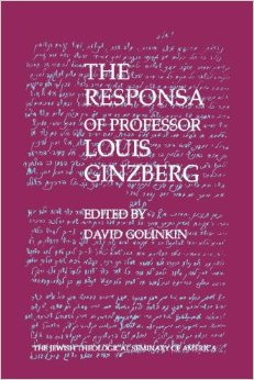 Response of Professor Louis Ginzberg