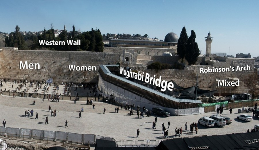 Kotel Western Wall Mughrabi Bridge Robinson's Arch prayer