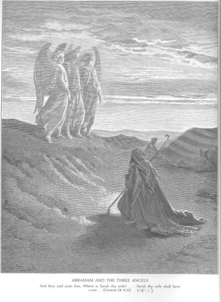 Dore Abraham and the three angels