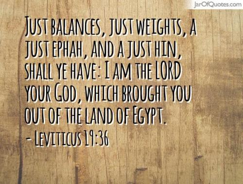 Just balances and weights Leviticus