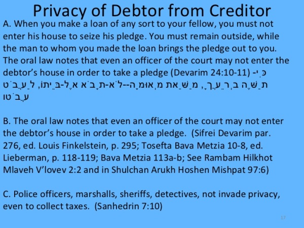 moral-ethical-halakhic-concerns-of-the-online-environment Privacy of a Debtor from a Creditor