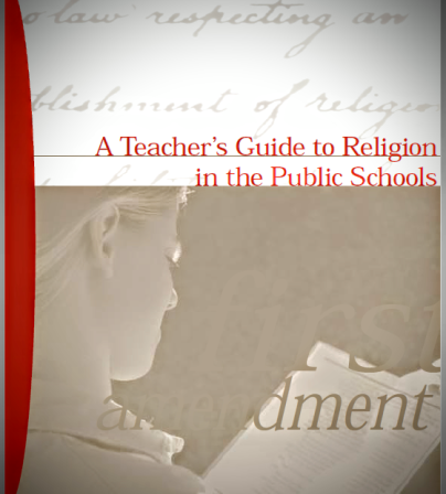 religion in the american public school Americans united for separation of church and state respecting an establishment of religion that has thousands of public school teachers.