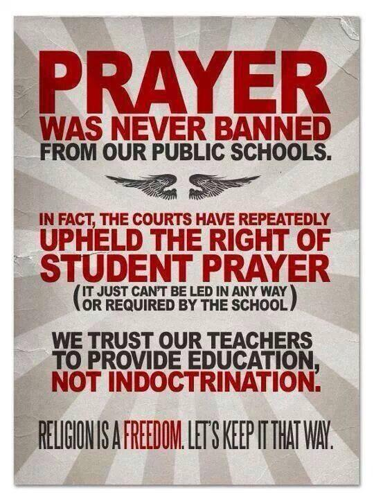 Prayer Was Never Banned From Our Public Schools
