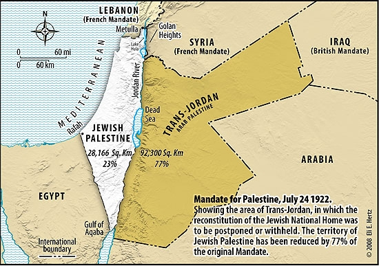 israel Jordan Mandate of Palestine 19221