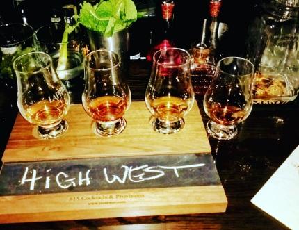 High West Rye Flight at 815