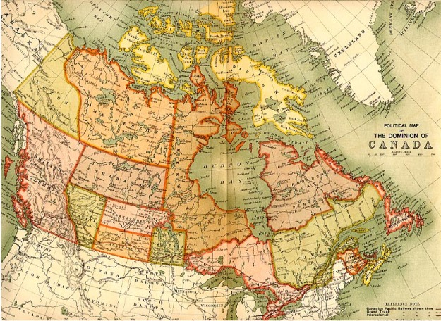 Map of Canada 1898