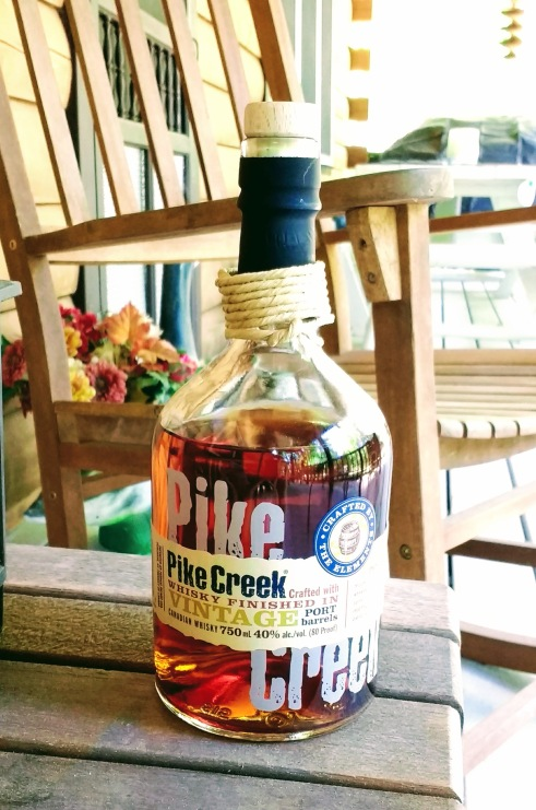 Pike Creek Whisky Canadian cabin porch