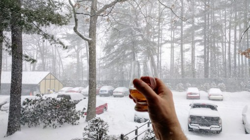 whiskey-during-blizzard