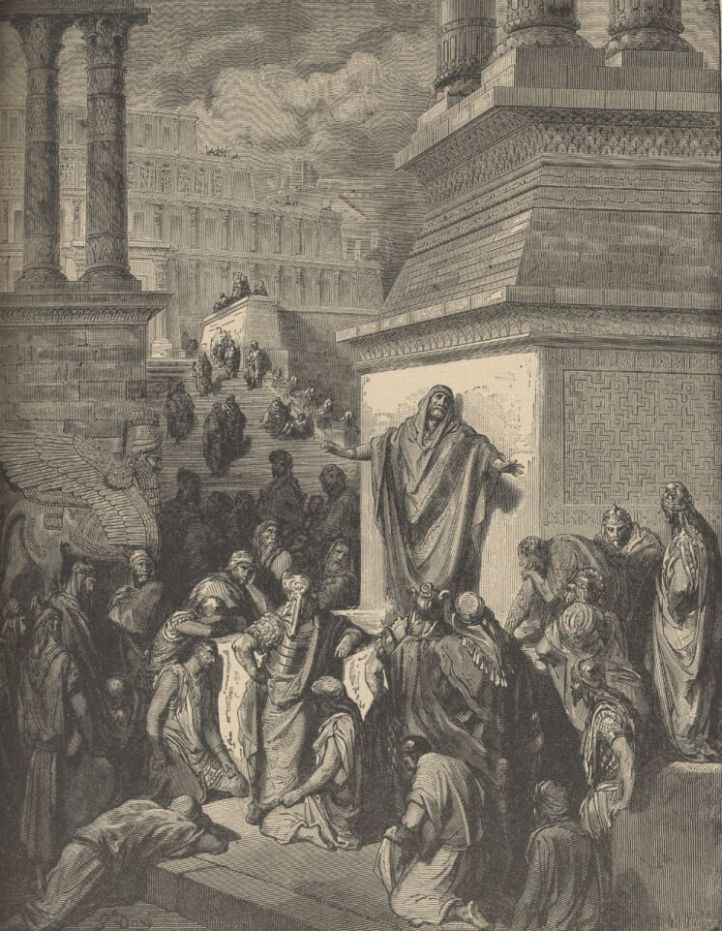 JONAH CALLING NINEVEH TO REPENTANCE Gustave Dore