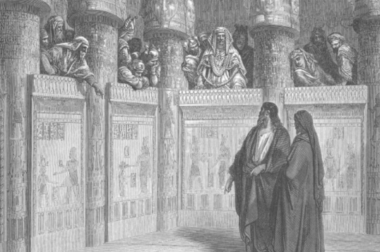 Moses and Aaron before Pharoah by Gustave Dore