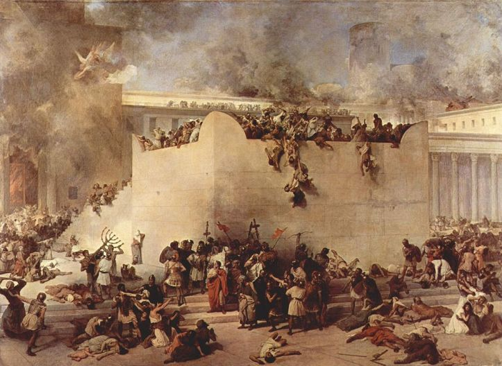 Francesco Hayez Destruction of the Temple of Jerusalem