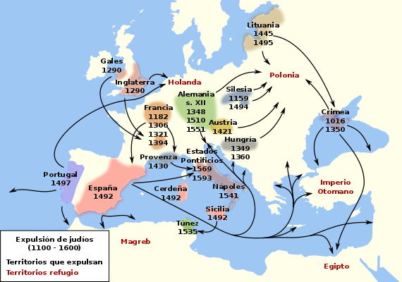 Expulsion of European Jews from Spain and other countries by Ecelan