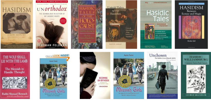 Hasidic books collage