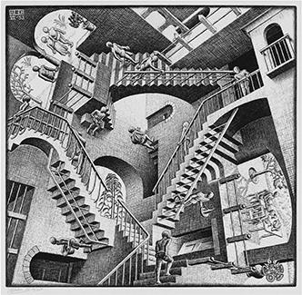 M.C. Escher Relativity in 1953