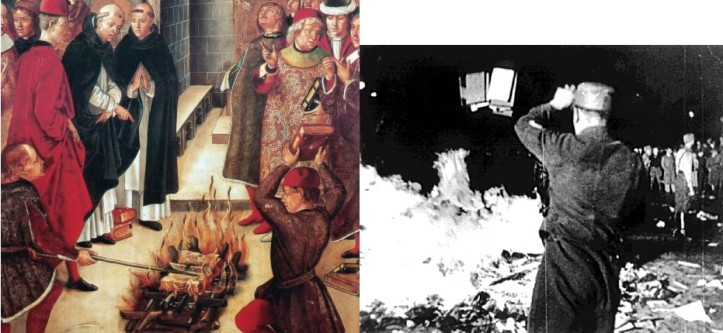 Book burning Talmud France and by Nazi in Lublin Poland