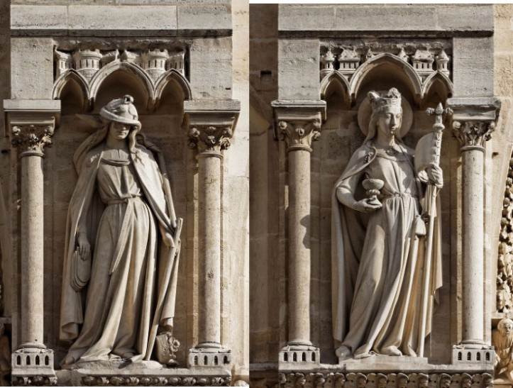 Ecclesia and Synagoga at Notre Dame Cathedral