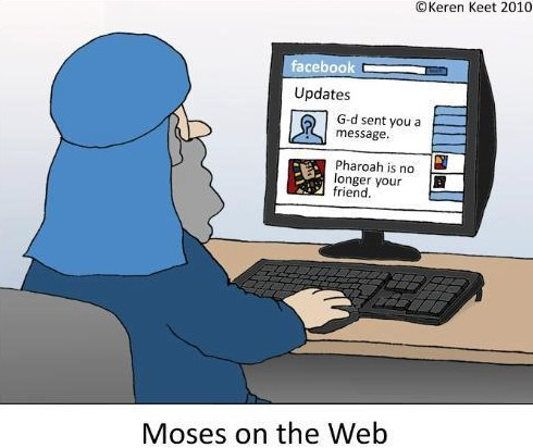 Humor Moses on the Web