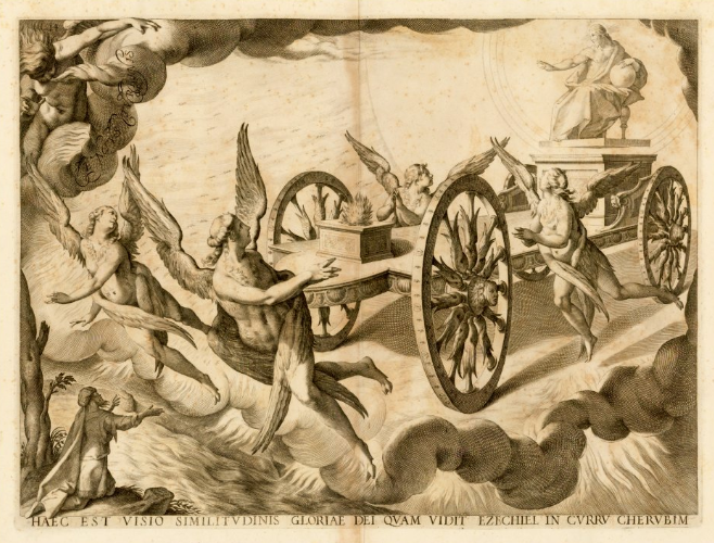 Ezekiel's vision of the chariot throne by Vincenzo Maria Coronelli