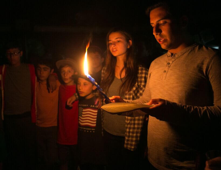 Havdalah at Camp Ramah Calif
