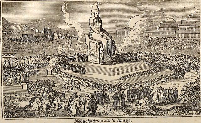 Nebuchadnezzar's Image by Joseph Berg 1838 Pagan gods