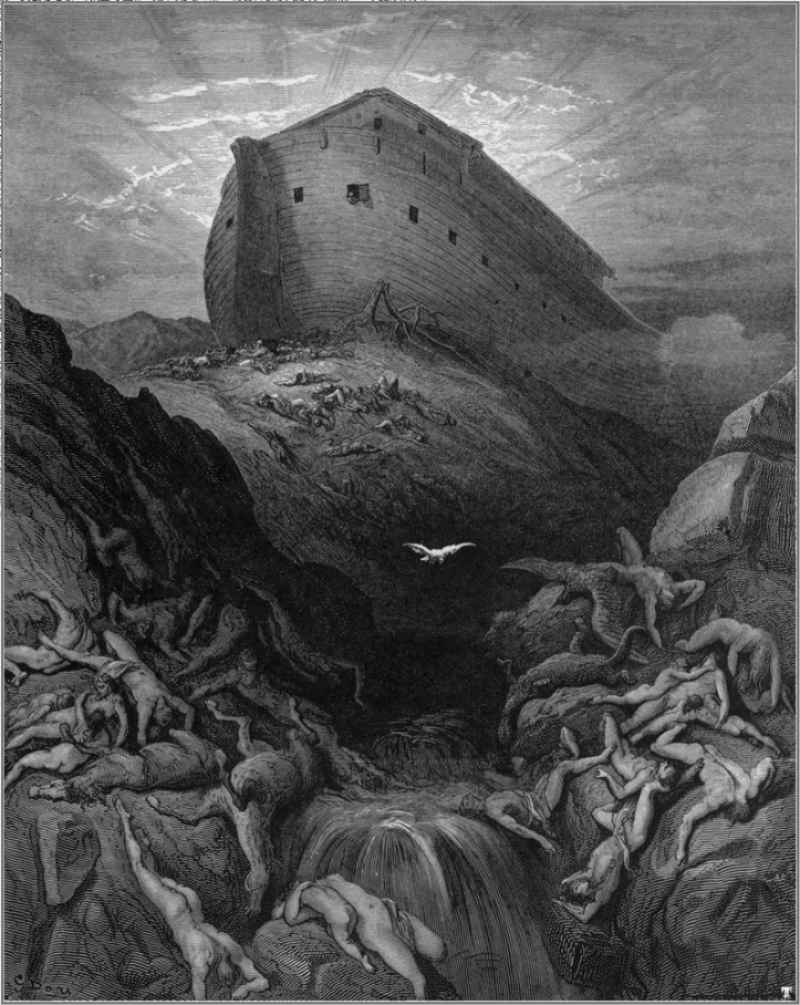 Noah The dove sent forth from the ark by Gustave Dore