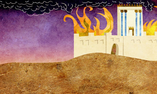 Temple burning on Tisha B'Av