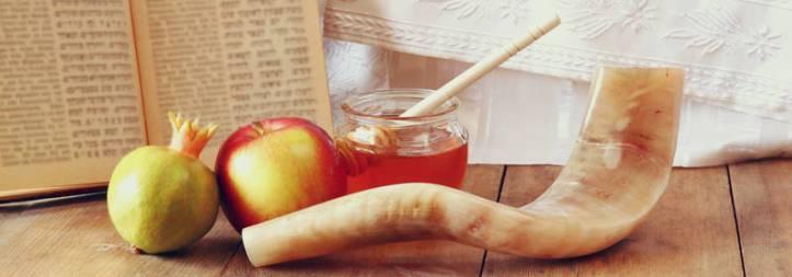 Shofar Rosh Hashanah apple honey