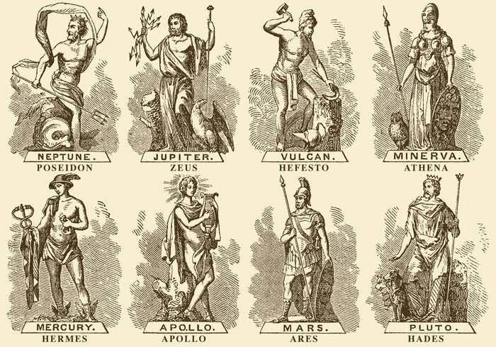 Greek and Roman deities gods