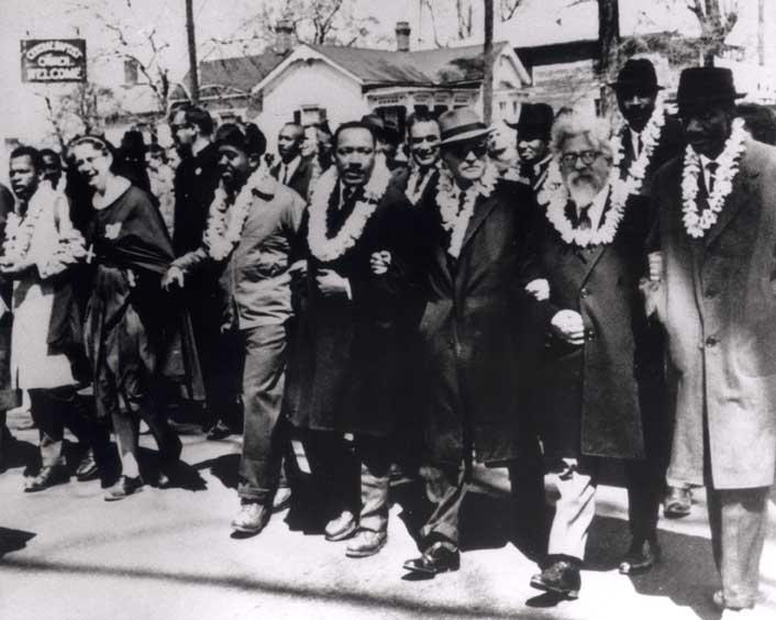 Abraham Joshua Heschel and Martin Luther King Jr in Selma